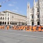 Milano è Nonviolenta Flashmob 2 ottobre 2012